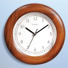 "Chaney Poplar Wood Wall Clock 8"" http://www.acurite.com/clock.html"