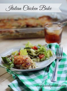 Served Up With Love: Italian Chicken Bake-Super simple to throw together with only 4 ingredients and the flavor is out of the world good. www.servedupwithlove.com