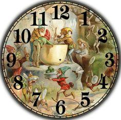 Clock Craft, Diy Clock, Xmas Clock, Clock Face Printable, Paper Clock, Clock Painting, Homemade Art, Cafe Art, Decoupage Paper