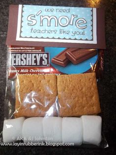 Layin' Rubber Ink.: We need S'more teachers like Ms. Melissa!