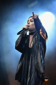 Lykke Li performs at Lake Shore stage during 2014 Lollapalooza Day One at Grant Park on August 1, 2014 in Chicago, Illinois. (Photo by Theo ...