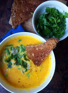 Coconut Ginger Carrot Soup - Healthy, vegan, easy!