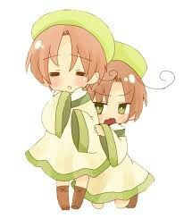 Hetalia 30 day challenge: day 5 who would be your child/children? Chibitalia and Chibiromano