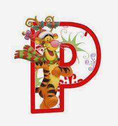 Alfabeto Navideño de personajes Disney.