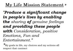 a mission statement describes your personal philosophy in life Do you know why your business exists an example mission, vision regardless of where they are in life (financially, professionally, emotionally, etc), we want to move them to an improved situation a christian business guide to creating your mission, vision, and values statements.