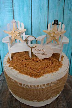 StarfishAdirondack chairwedding cake by MorganTheCreator on Etsy