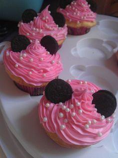 Minnie cupcakes with mini Oreos