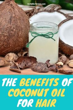Wondering what the benefits of coconut oil for hair are? Here you'll learn how a coconut oil treatment can strengthen your hair - and potentially even support your hair growth! Mct Oil Benefits, Benefits Of Coconut Oil, Best Coconut Oil, Coconut Water, Healthy Oils, Healthy Detox, Diy Eye Mask, Cooking With Coconut Oil, Weight Loss Water