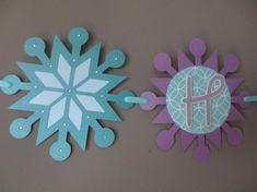 Snowflake Winter Wonderland Purple Aqua Happy Birthday Banner Sign Onederland Party