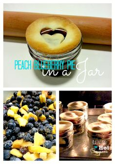 Looks Delish, and EASY!   Must sign up to host more parties so I can do this!   Peach Blueberry Pie in a Jar Recipe