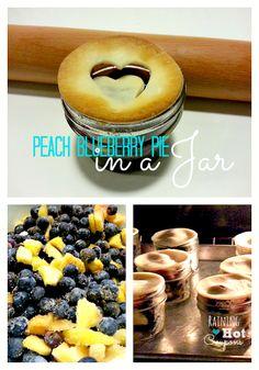 Peach Blueberry Pie in a Jar Recipe