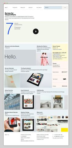 "The Web Aesthetic — Showcasing The Best in Web Design // I like this pure and ""light pastel colored"" design"