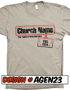FREE SHIPPING on all Agency VBS Agent - VBS T-Shirt Designs