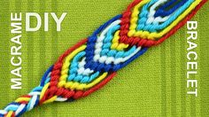 How to do the leaves - macrame Friendship bracelet tutorial (can be called a peacock's tail). You can use this bracelet from both sides. Fits to men and wome...