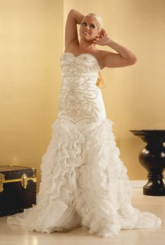 $200 OFF Lola: Organza Wedding Dress Plus Size Bridal Gowns   Real Size Bride MEMORIAL DAY SALE