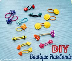 Sew Can Do: Gymboree-Style Accessory For Cheap: DIY Boutique Hairbands