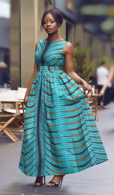 Gina African print maxi dress Exquisite, magnificent and queenly is what comes to mind when you see this African print low back maxi dress. This breathing taking and stunning African print dress will definitely get you loads of complime Best African Dress Designs, Best African Dresses, African Fashion Ankara, African Traditional Dresses, African Inspired Fashion, Latest African Fashion Dresses, African Print Dresses, African Print Fashion, African Attire