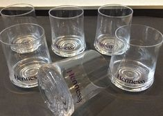 Hennessy French Cognac Set Of 6 Glasses Glassware Mancave Home Bar Drinks in Collectables, Barware, Drinkware   eBay!