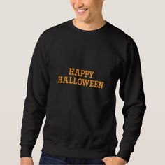 Happy Halloween embroidered sweater