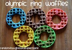 olympic ring waffles