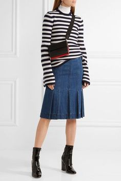 Michael Kors Collection - Striped Cashmere Sweater - Midnight blue -