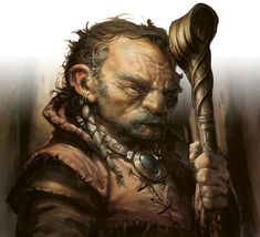 m Gnome Warlock Leather Armor Necklace Staff portrait Gaddock Teeg art by Greg Staples Fantasy Art Men, Fantasy Rpg, Medieval Fantasy, Dark Fantasy, Best Portraits, Character Portraits, Character Art, Dnd Characters, Fantasy Characters