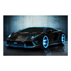 Tron Legacy Lamborghini Aventador ❤ liked on Polyvore featuring cars, vehicles, carros e transport