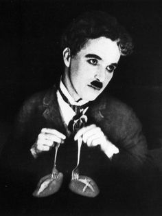 "My absolute FAVORITE thing Charlie Chaplin has EVER done! ""The Roll Dance"". Look up on YouTube: ""charlie chaplin roll dance"" and you will immediately fall in love with his unique and wonderful way of silent comedy :)"