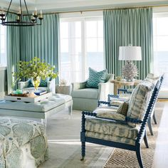20 Best Coastal Design Tips of All Time | Take it from the pros: A beautifully beachy home doesn't require views of swaying palms and gentle waves of aqua (though that's certainly a bonus!). With a few dreamy design tricks, every day can be a beach day, no matter where you call home. Here are our all-time fave ideas for bringing coastal style to every room, from a striking powder room to a porch that begs for seaside siestas. BL