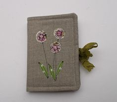 Needle Case - Linen - Flowers