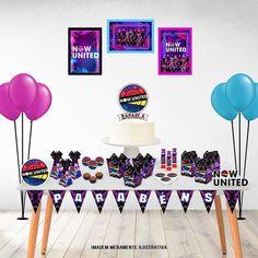 Kit Festa Em Casa - Now United no Elo7 | Valentin's Personalizados (12F3E58) Great Dog Names, Tumblr Wallpaper, Pina Colada, Barbie, Doodle Art, Cupcake Toppers, The Unit, Neon, Party