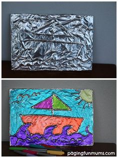 Tin Foil Art - such beautiful results!