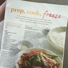 Will I cook and freeze this healthy Honey Chicken Stir-Fry? Or the Mexican Beef & Beans? Congrats Christine Sheppard and the team for a fab feature of recipes for busy working women! Love that they can be half-cooked then frozen for up to 3 months. Nice one.
