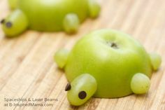 A Healthy Kids in the Kitchen Recipe - Easy Apple Turtles at B-Inspired Mama