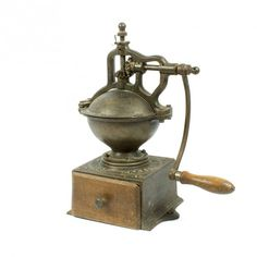 la Bodega Antiques.Antique PEUGEOT FRERES A2 Cast Iron coffee grinder model A2.