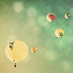 Hot Air Balloons http://www.etsy.com/listing/69492819/sunshine-and-big-sky-hot-air-balloons