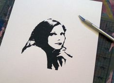 How to make a stencil of yourself or your loved ones.