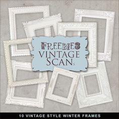 Freebies Vintage Styles Winter Frames