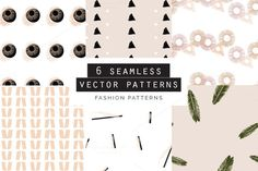 Fashion Seamless Patterns Set of 6 by Youandigraphics on Pattern Illustration, Pencil Illustration, Vector Pattern, Pattern Design, Graphic Patterns, Graphic Design, Free Design, Custom Design, Creative Sketches
