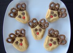 Day 276 - Day 5 of the 12 Days of Cookies - Peanut Butter Reindeer Cookies - 365 Days of Baking