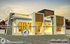 1 Story Home Floor Plans with Small Simple Pretty Low Cost House Ideas One Bedroom House Plans, 2bhk House Plan, Duplex House Plans, Modern House Plans, Small House Plans, House Floor Plans, Story House, Single Floor House Design, House Front Design