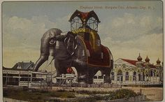 1910s MARGATE City NEW JERSEY Shore LUCY THE ELEPHANT vintage postcard by Christian Montone, via Flickr