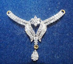 1.30ct NATURAL DIAMOND 14K WHITE GOLD WEDING ANIVERSARY MANGALSUTRA #Sk_Jewels #Choker