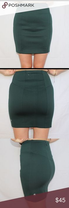 Lululemon CityFarer Skirt Like new. Worn once. This is your perfect skirt that gives you a four way stretch. It is a beautiful forest dark green that is perfect for this fall. The skirt goes above your knees. Size 4 with attached rip tag. lululemon athletica Skirts