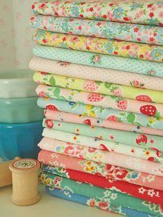 Atsuko Matsuyama fabric from Sew Deerly Loved via Pretty by Hand