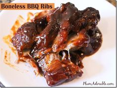 BBQ Pork Ribs...Made these for dinner tonight, really basic and easy ...