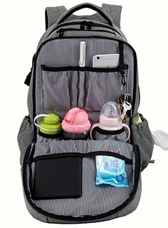 Hap Tim Multi-function Large Baby Diaper Bag Backpack W/Stroller Straps -Insulated