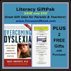This Literacy Set with book & tools helps challenged readers with dyslexia. Choose this set for a challenged reader you know and receive 2 FREE gifts, too! Parent Gifts, Teacher Gifts, Struggling Readers, Parents As Teachers, Down Syndrome, Reading Challenge, Learning Disabilities, Dyslexia, Free Gifts