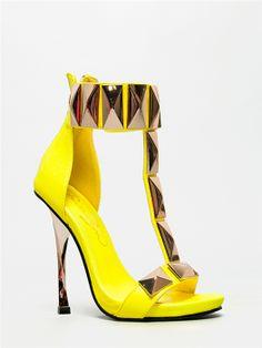 Privileged ARCHER Studded Neon Sandal -