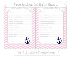 Pink Chevron  Nautical Wishes for Baby Sheets
